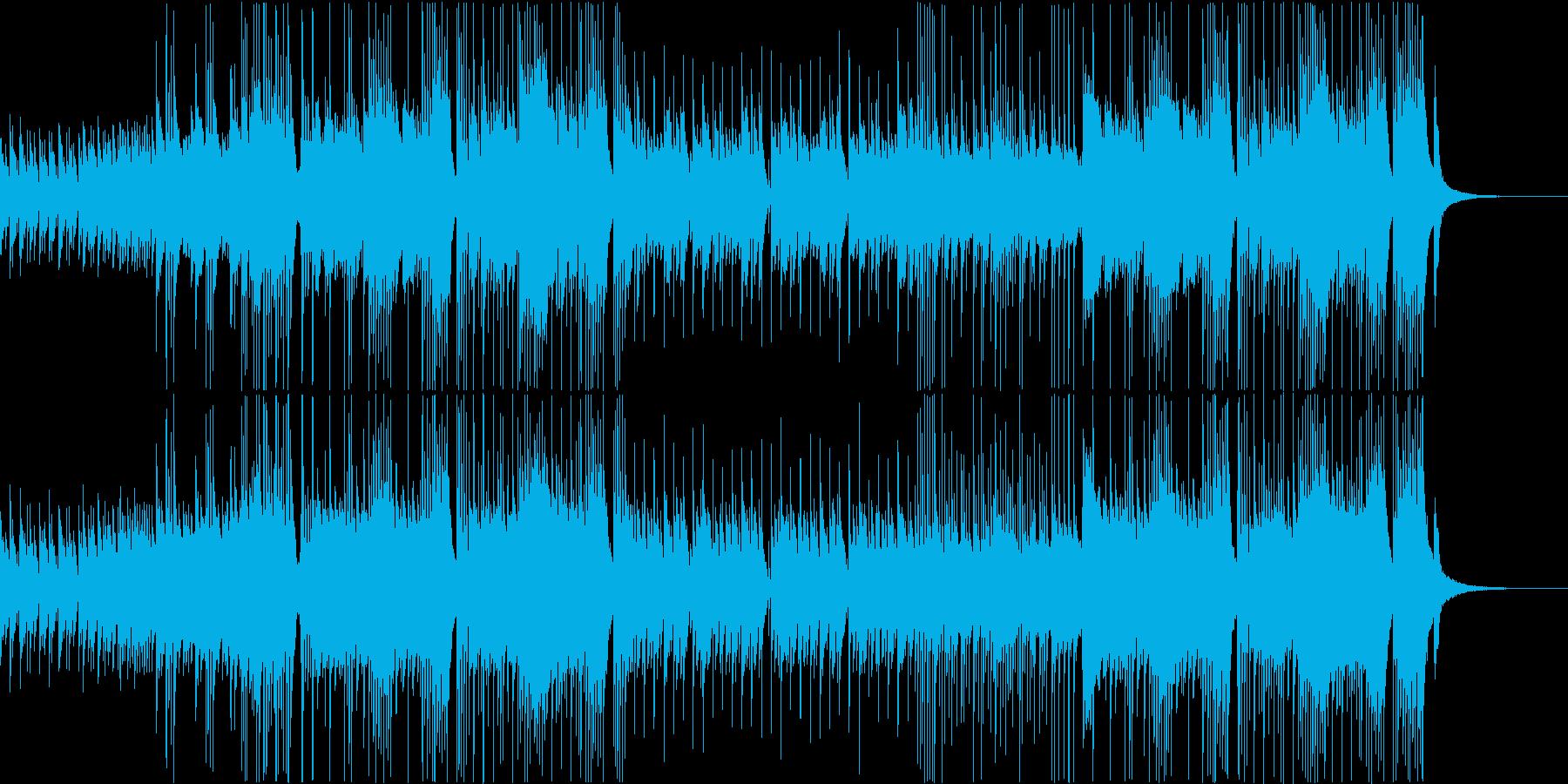 ピアノとドラムのさわやかな曲です。の再生済みの波形