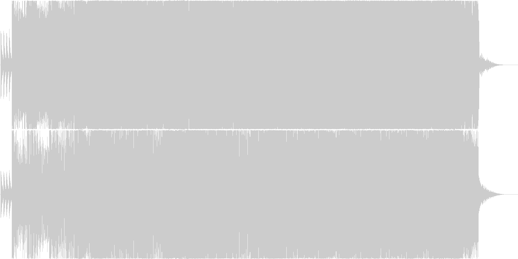 YouTube用のBGMに最適 バトル編の未再生の波形