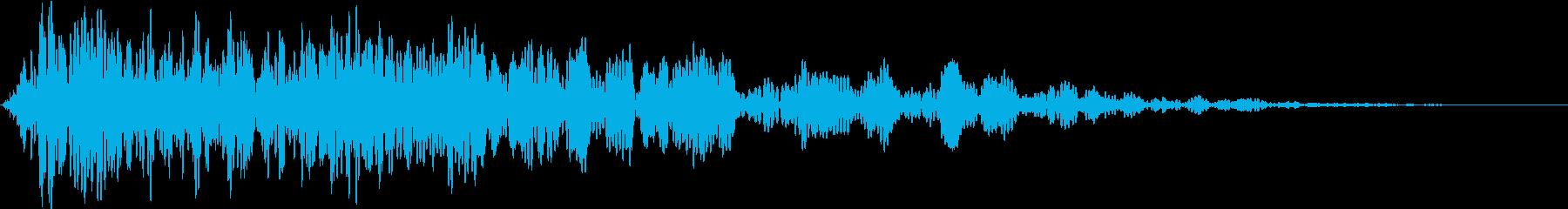 迫力のあるサウンドでタイトルを強調の再生済みの波形