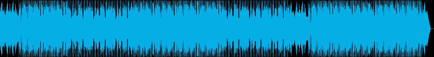 優しい感じのインストHIPHOP系ビートの再生済みの波形