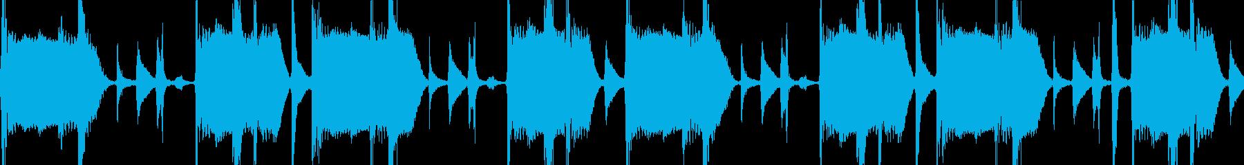 サンバ楽器のブレイクビーツLoop素材の再生済みの波形