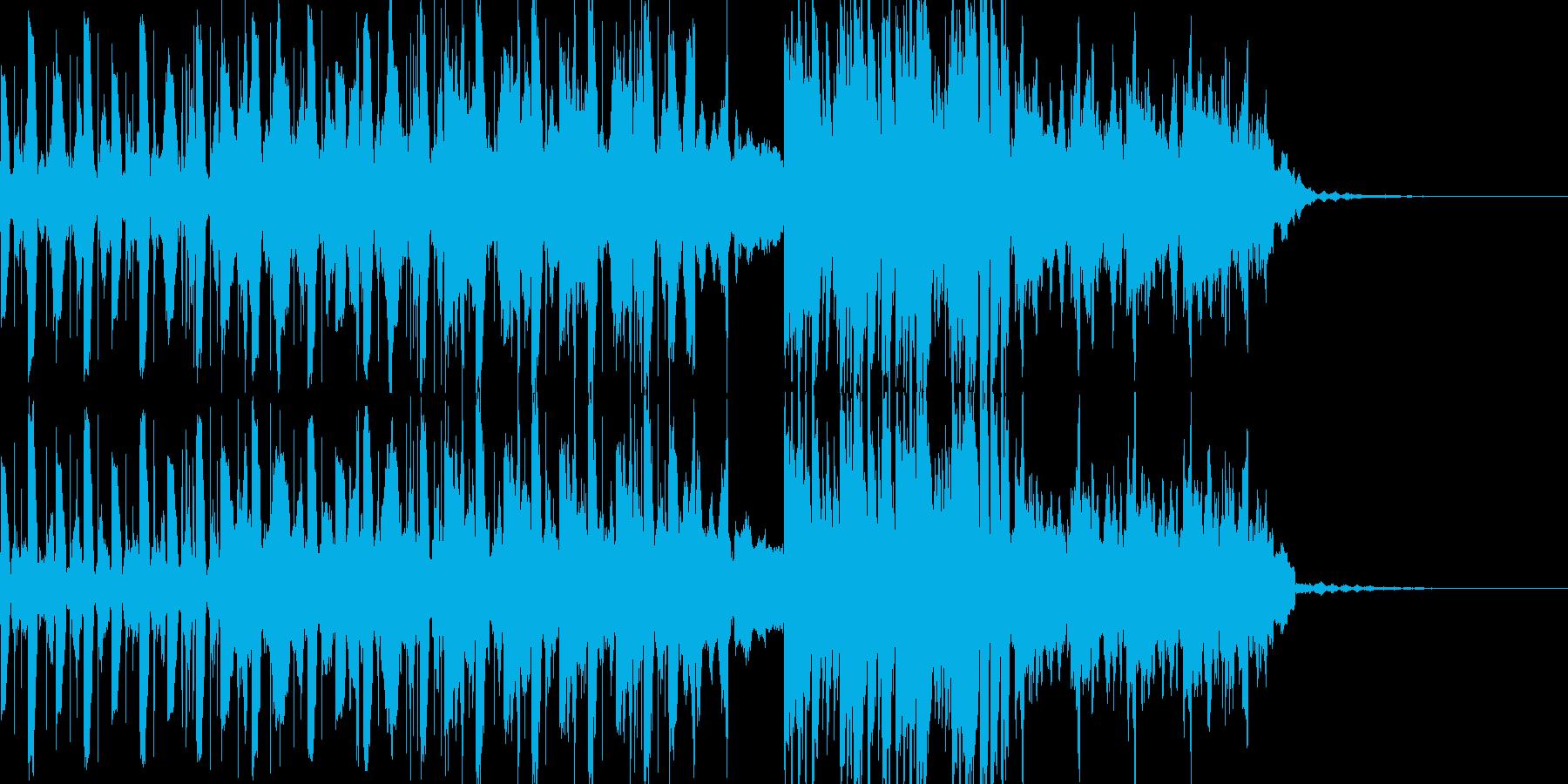 無機質な映像に合うテクノの再生済みの波形