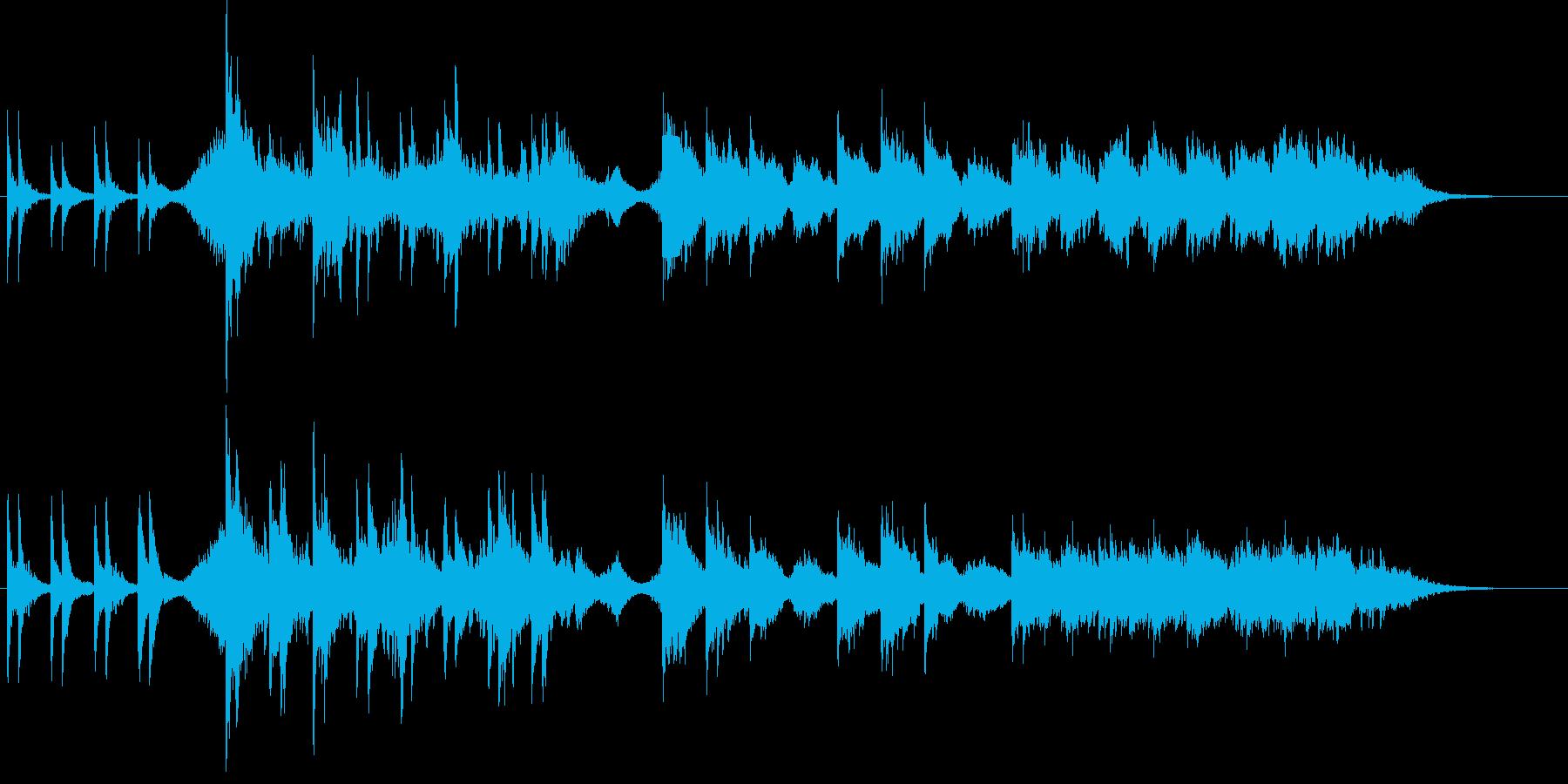 恐怖のドアノックの再生済みの波形