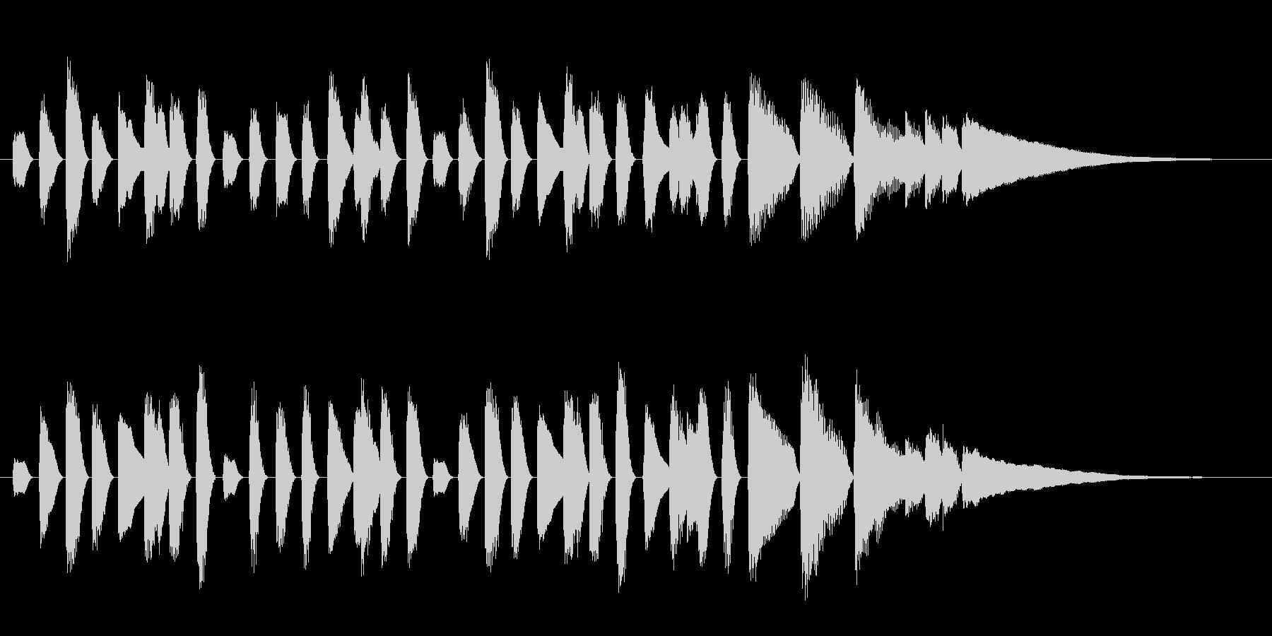 ほのぼの系ピアノのオープニングジングルの未再生の波形