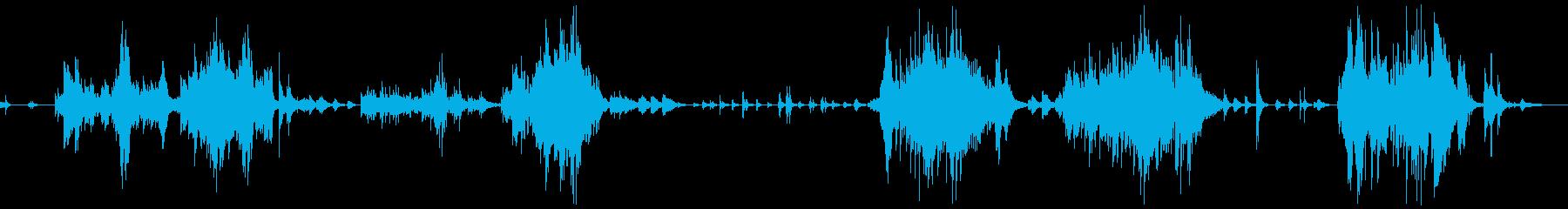 ピアノでドラマチックに描く「我は海の子」の再生済みの波形