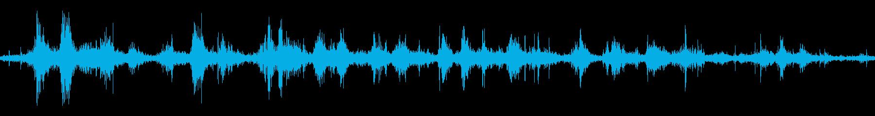 フラッグフラップシェーキングパラシュートの再生済みの波形