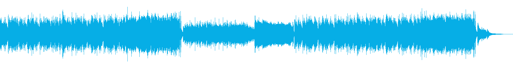陽気な雰囲気の曲の再生済みの波形