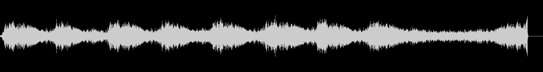 不気味に響く音と鈴の音の未再生の波形