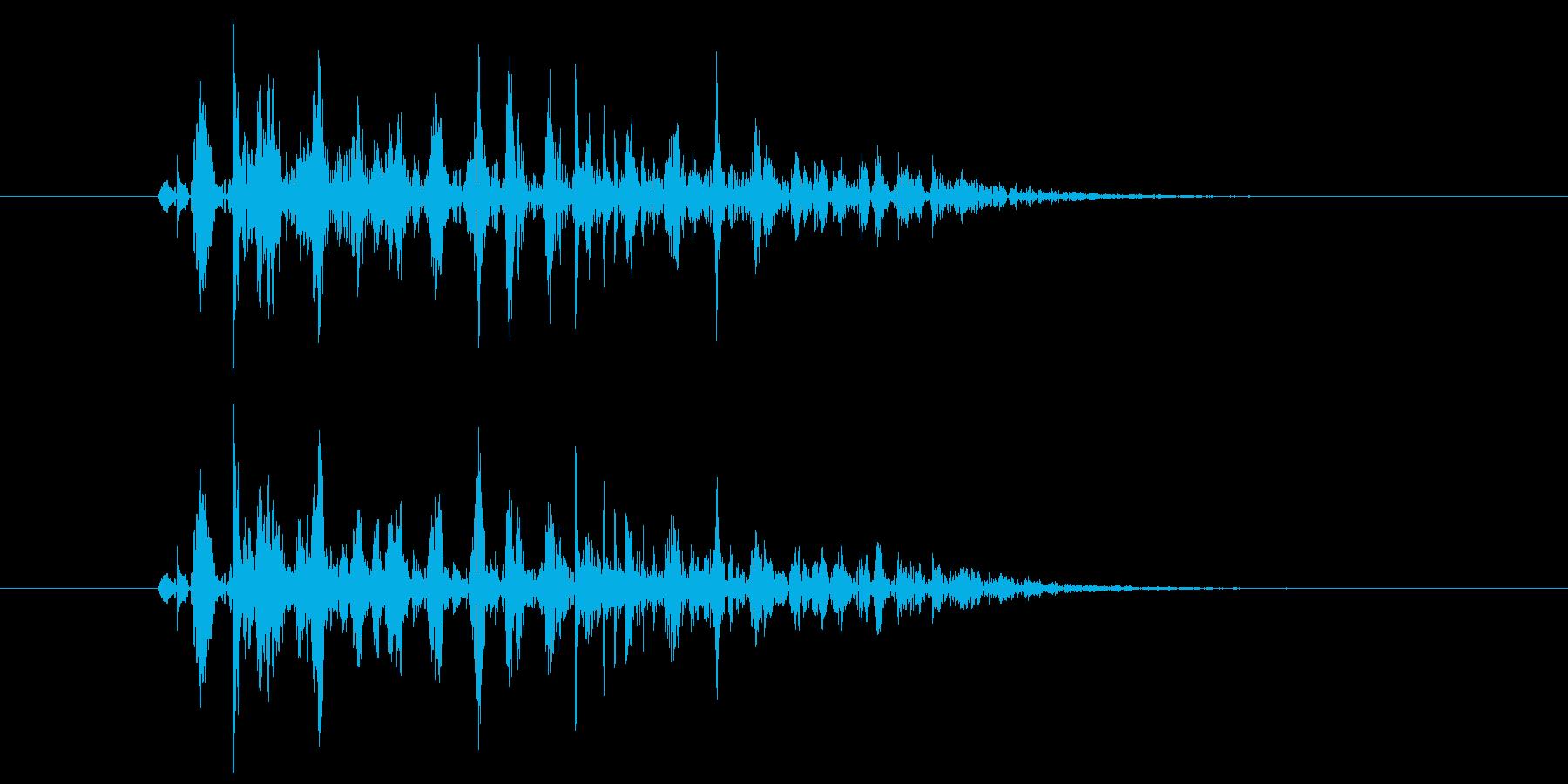 ブクブク(泡のような音) A01の再生済みの波形