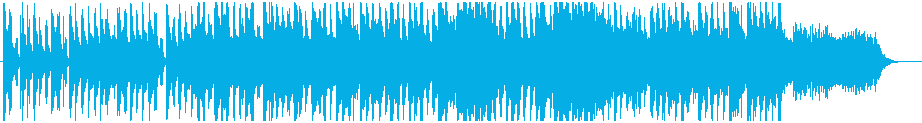 オーガニックな転換音楽の再生済みの波形