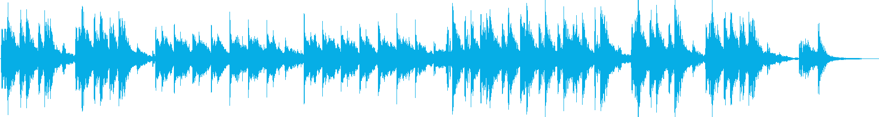 眠りにつくイメージの再生済みの波形