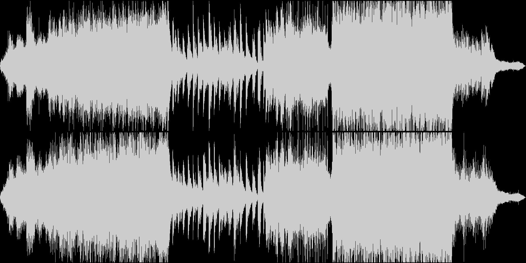 ミステリアスな雰囲気のポストクラシカルの未再生の波形