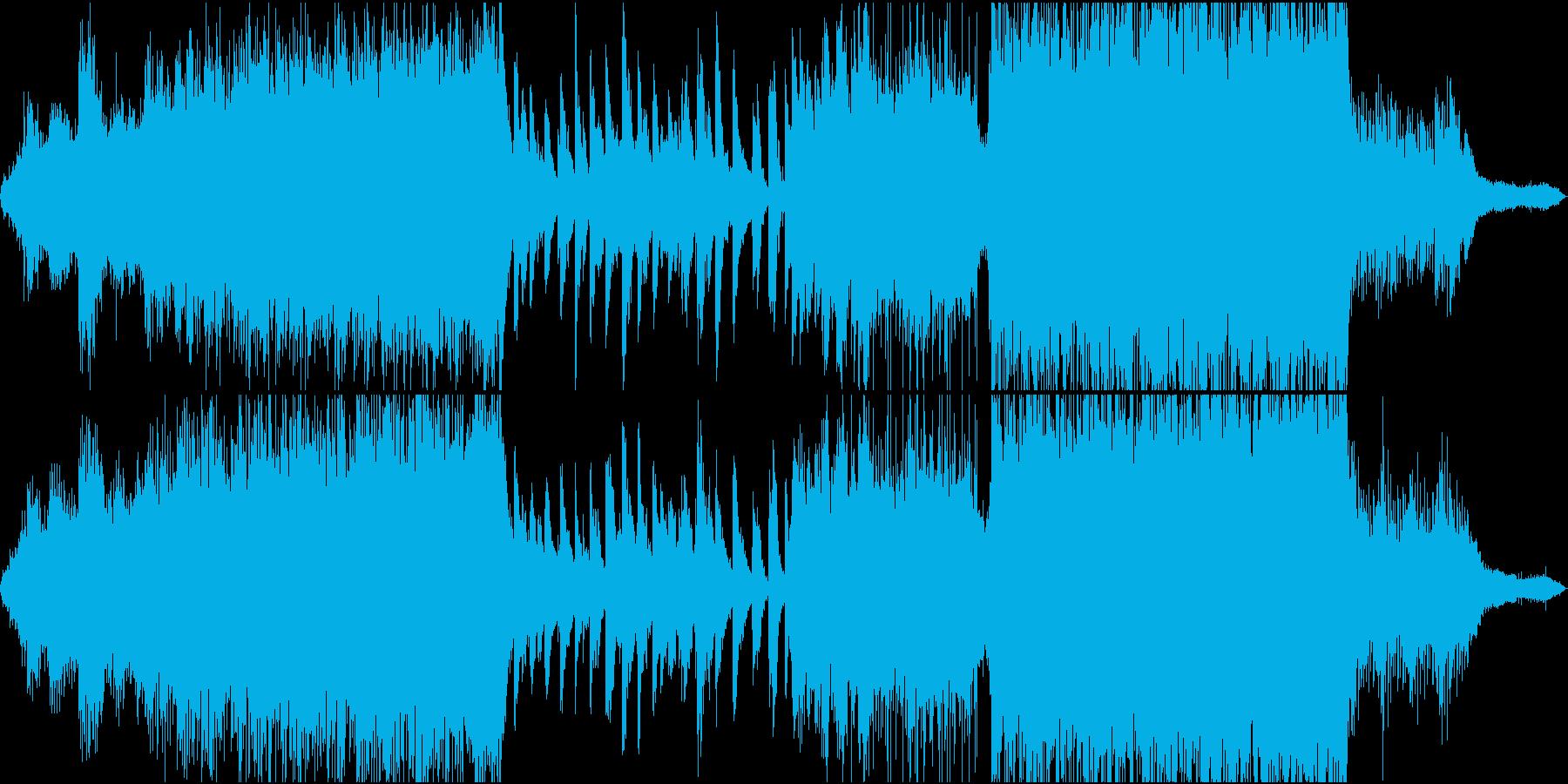 ミステリアスな雰囲気のポストクラシカルの再生済みの波形