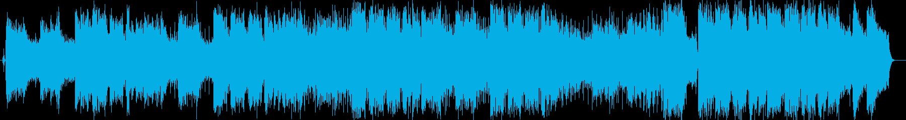 軽快なストリングスミュージックの再生済みの波形