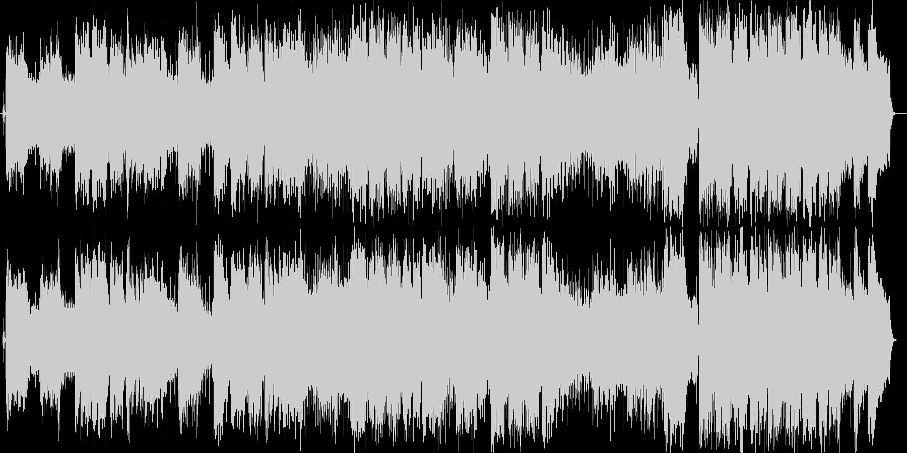 軽快なストリングスミュージックの未再生の波形