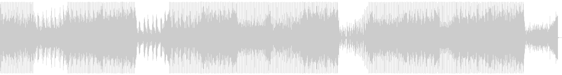 アコースティックギターハウスミュージックの未再生の波形