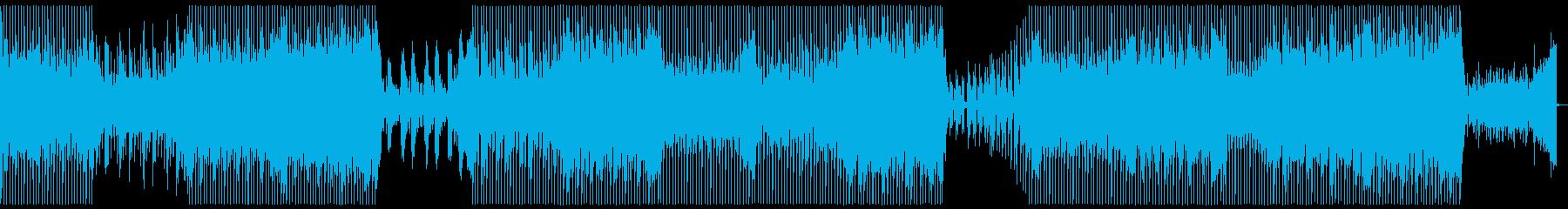 アコースティックギターハウスミュージックの再生済みの波形