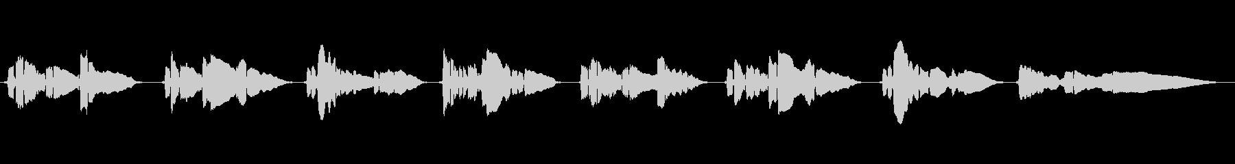 悲しいメロディーのサックスの曲です。の未再生の波形