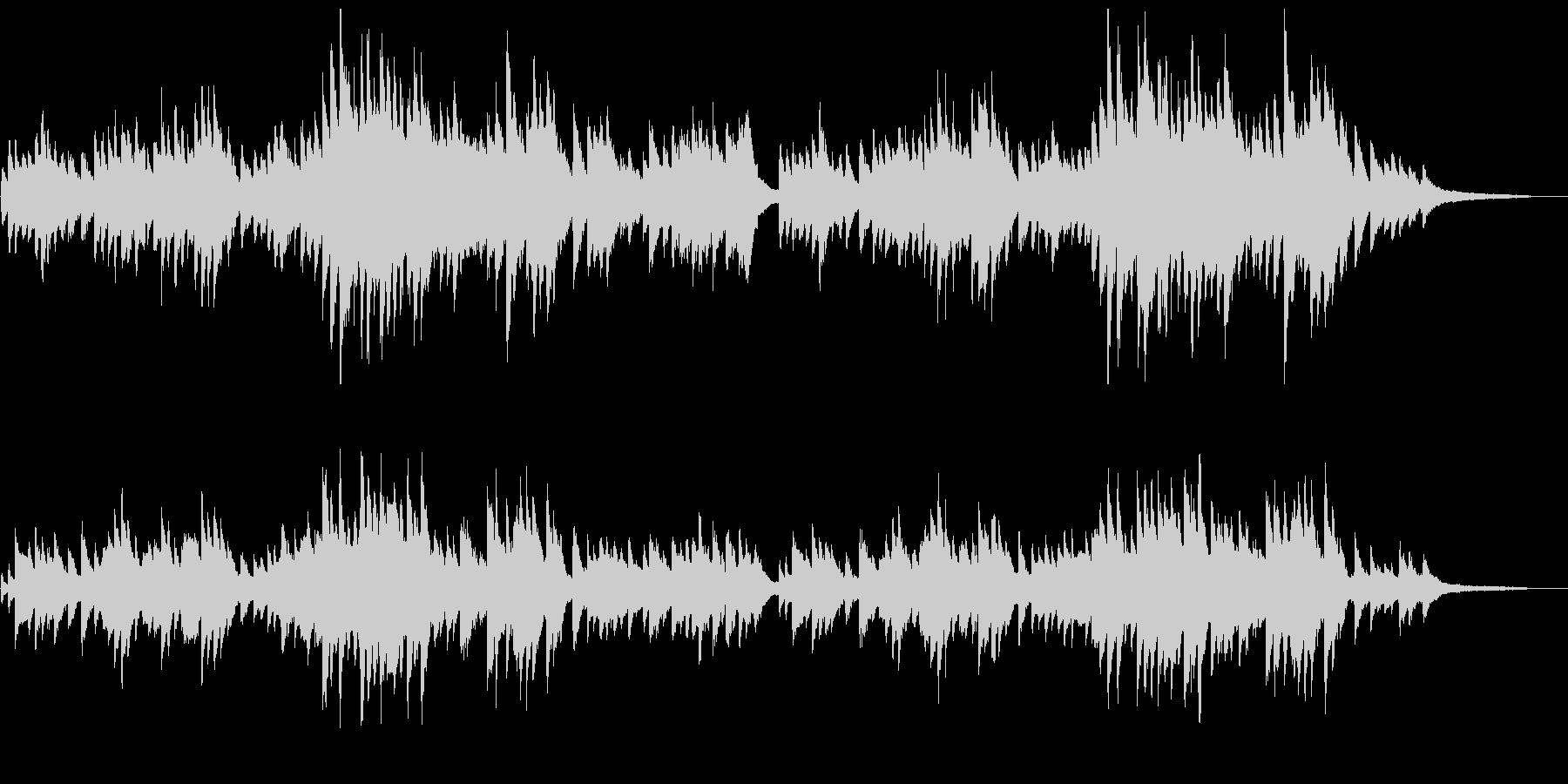 「朧月夜」シンプルなピアノソロの未再生の波形