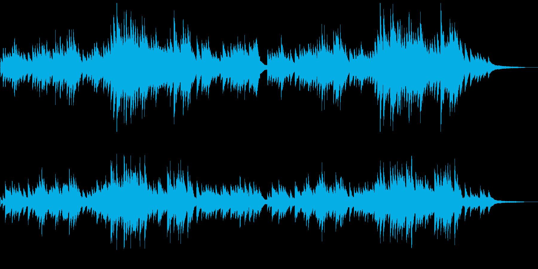 「朧月夜」シンプルなピアノソロの再生済みの波形