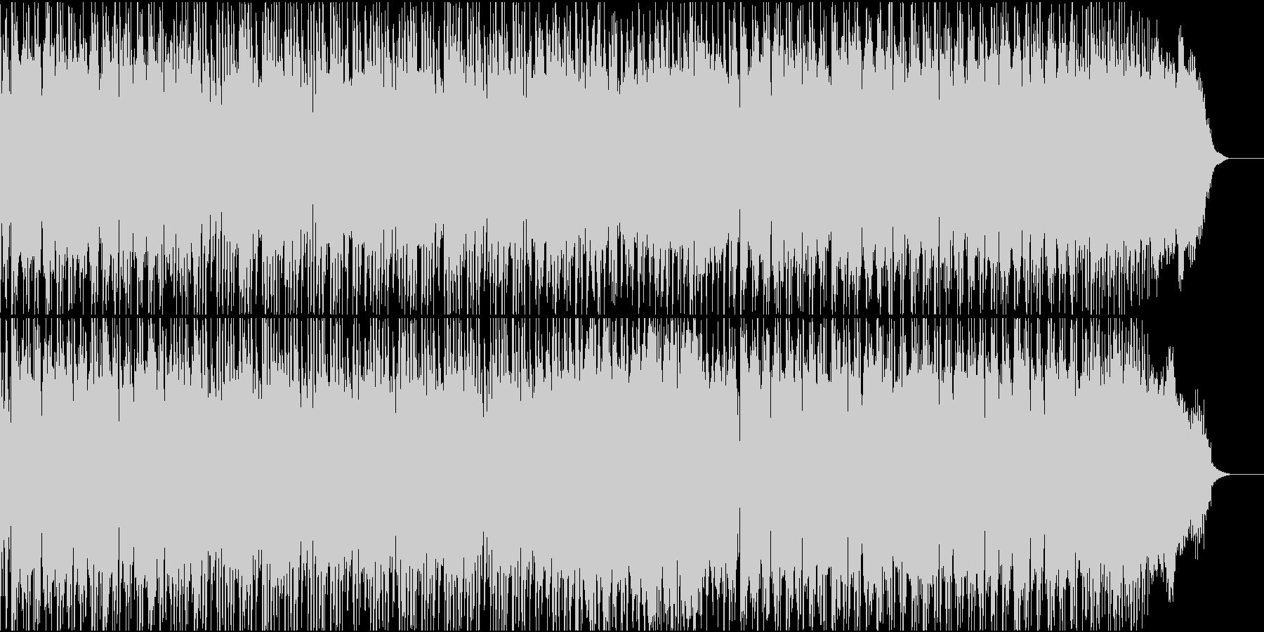 パワフルで疾走感のあるロックの未再生の波形