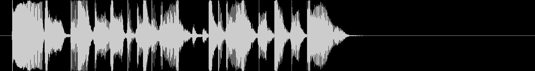 スラップベースの場面転換ジングルの未再生の波形