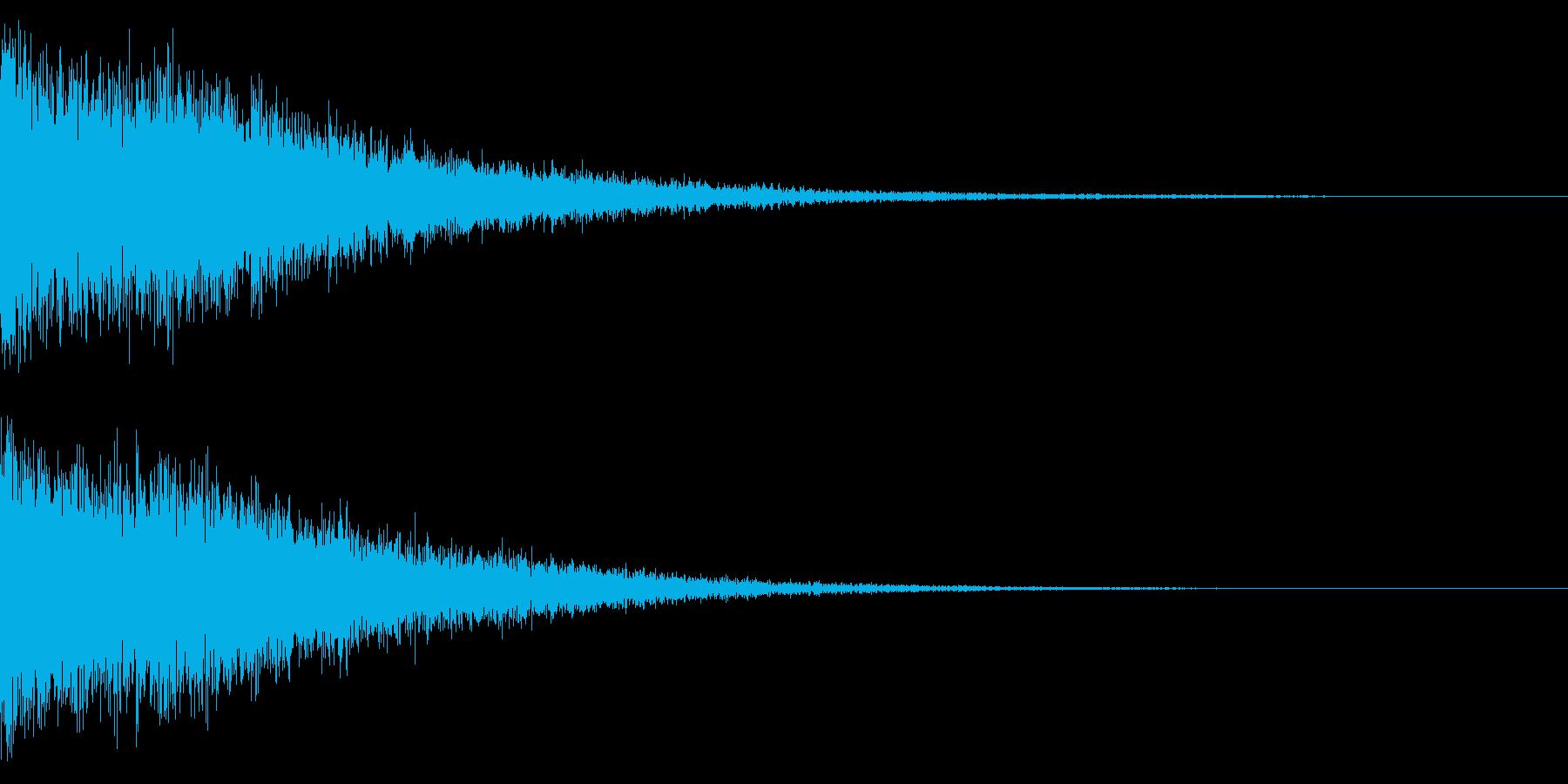 ホラー系アタック音18の再生済みの波形
