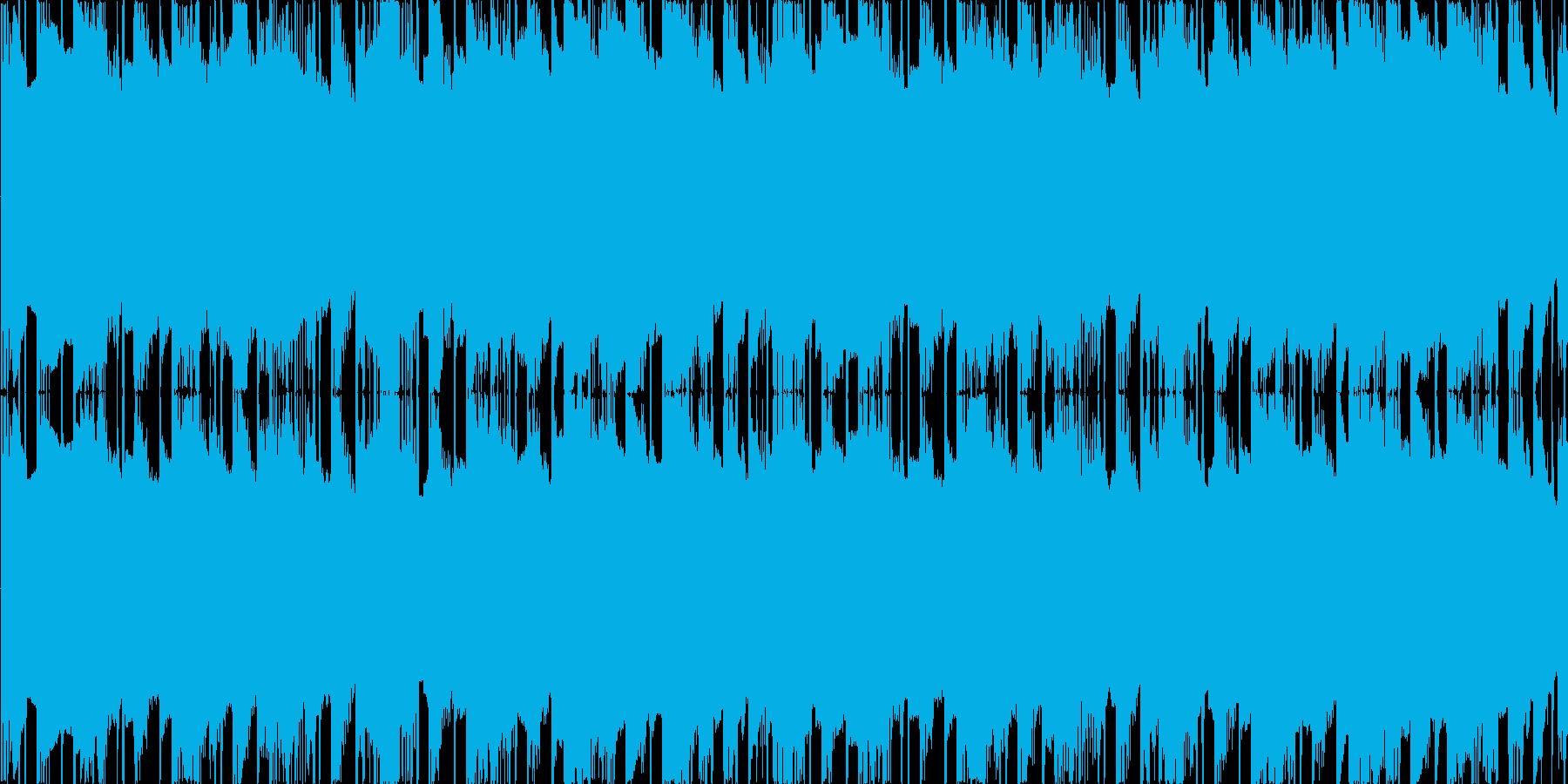 ファミコン風のダンジョン・迷路向けBGMの再生済みの波形