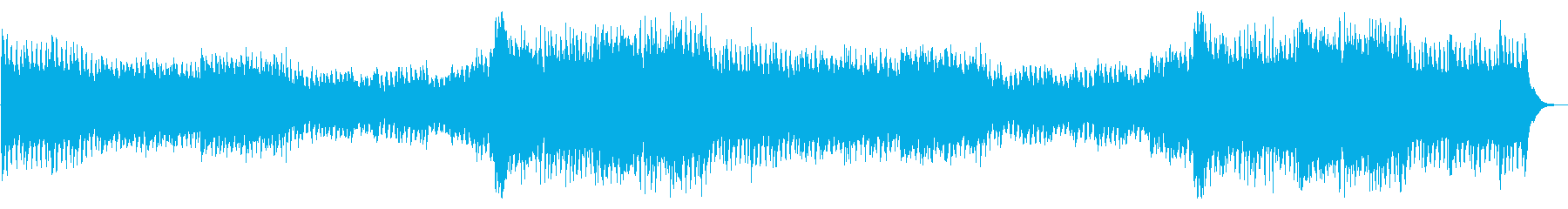 疾走感のあるオーケストラバトル曲の再生済みの波形