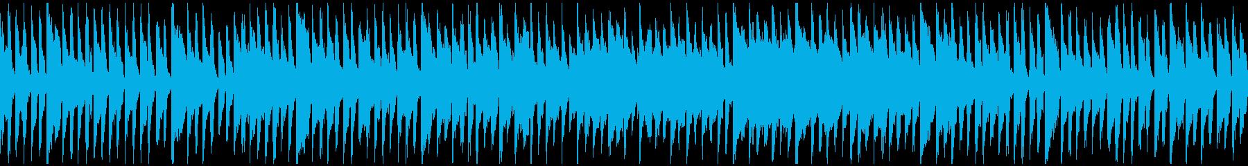 猫、犬、ほのぼのペット動画向け※ループ版の再生済みの波形