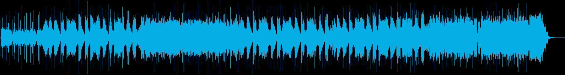 ドラムのロックなビートメインの曲の再生済みの波形