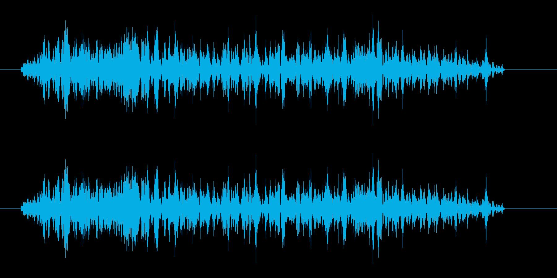 怪物の叫び声(ウオー)の再生済みの波形