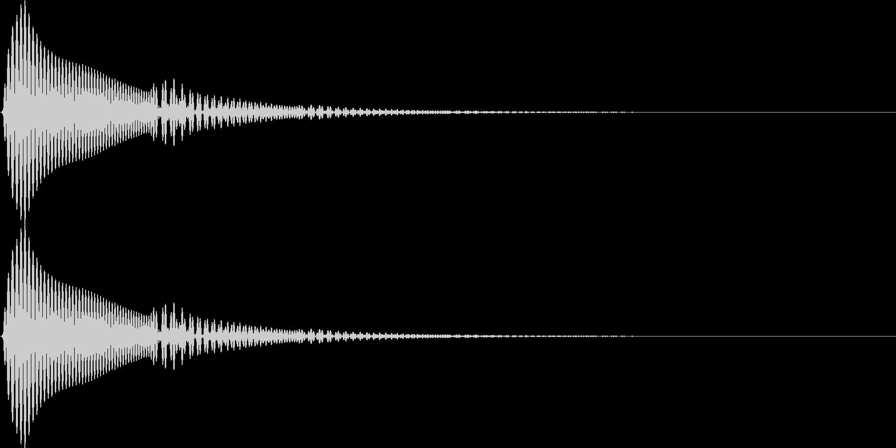 UI セレクト音 エコーのかかったポウッの未再生の波形