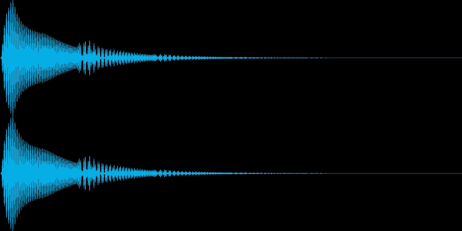 UI セレクト音 エコーのかかったポウッの再生済みの波形