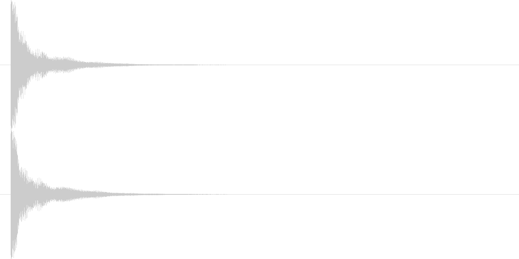 生演奏  津軽三味線  ジャーンの未再生の波形