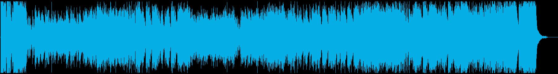 ワクワクするオーケストラのファンファーレの再生済みの波形