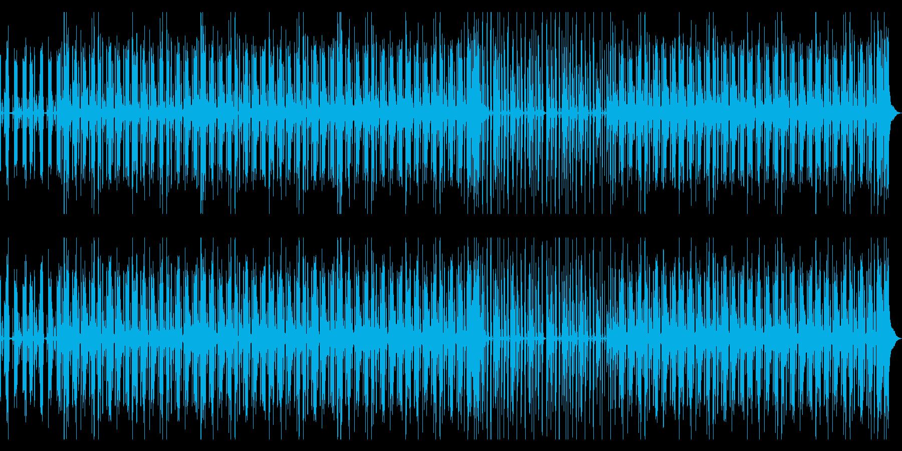 お洒落で大人な雰囲気の落ち着いた曲の再生済みの波形