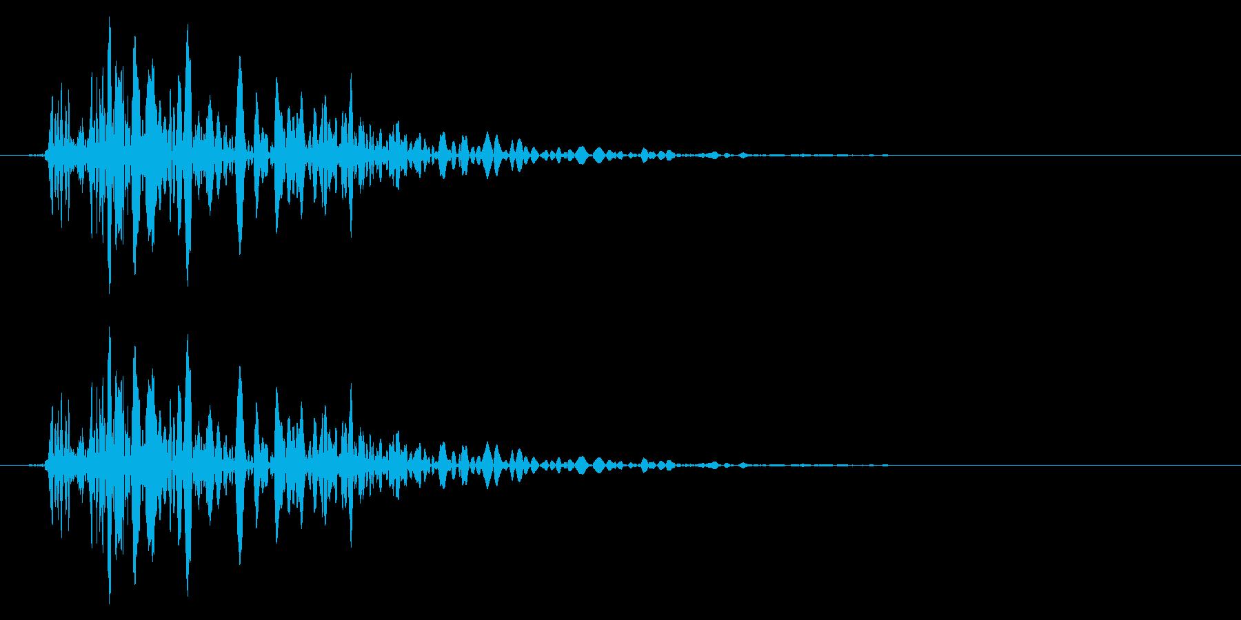 バタン/車/ドア/閉めるの再生済みの波形