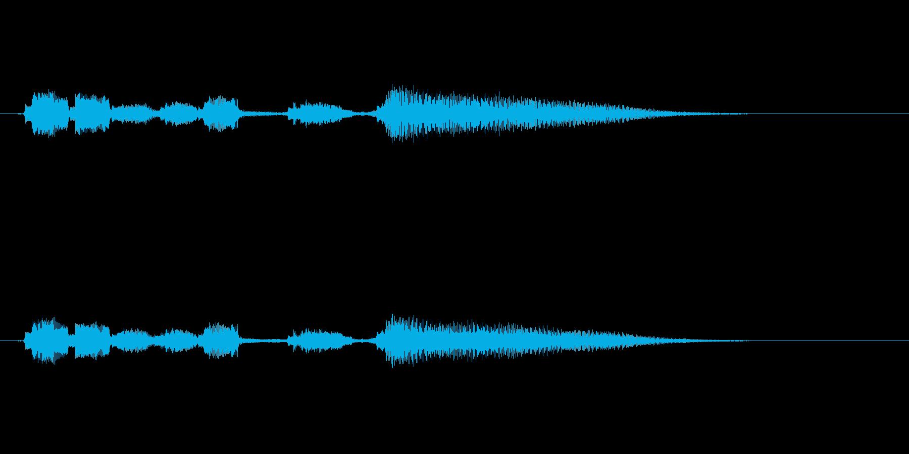 クリーントーンのエレキギター  ジングルの再生済みの波形