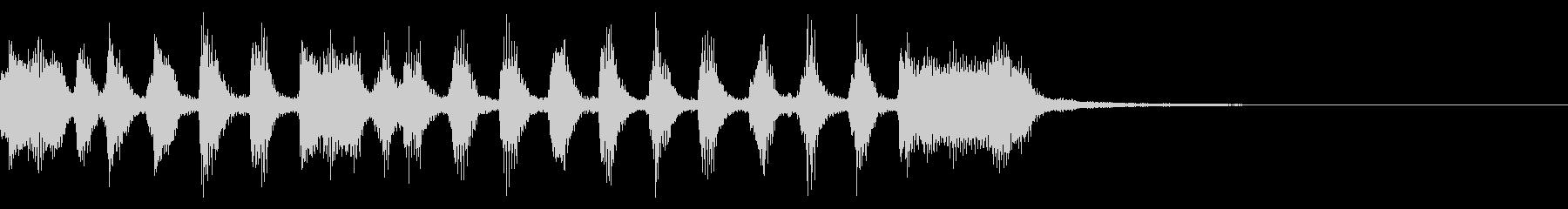 【ジングル】トランペットのファンファーレの未再生の波形