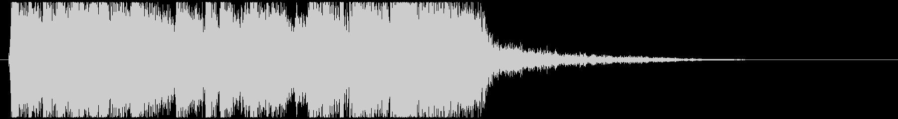エレキ(ストラト)を使ったロックジングルの未再生の波形