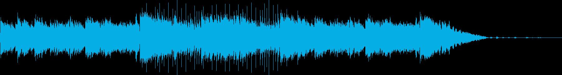 穏やかなリラックスできるCM用のボサノバの再生済みの波形