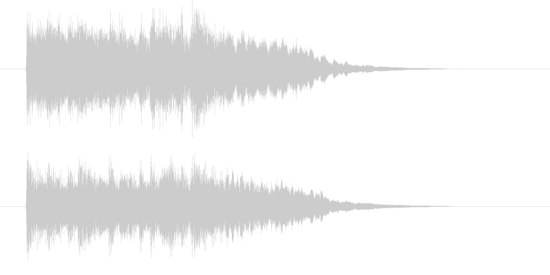 ゆったりと落ちついたリラクゼーション音楽の未再生の波形