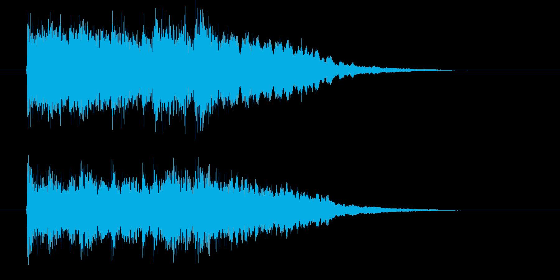 ゆったりと落ちついたリラクゼーション音楽の再生済みの波形