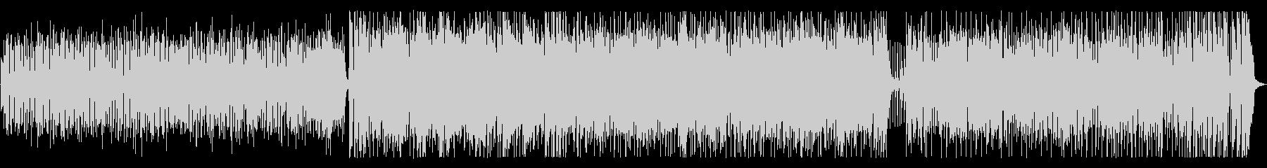 軽快なジャズフュージョンの未再生の波形