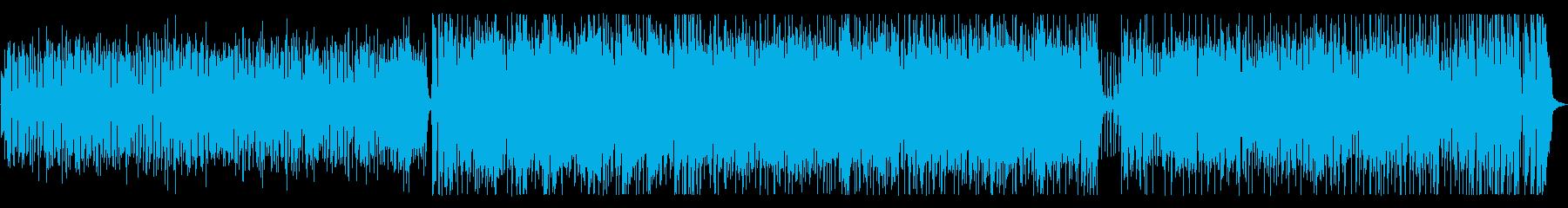 軽快なジャズフュージョンの再生済みの波形