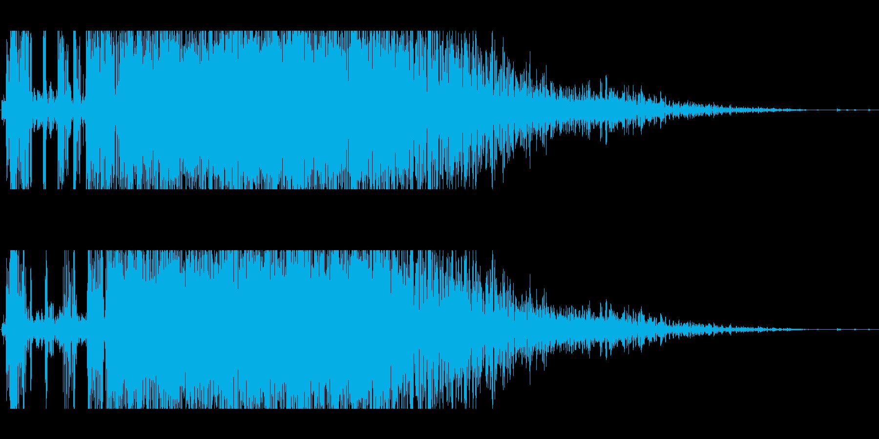 パンチ(バシッと鈍い音)の再生済みの波形