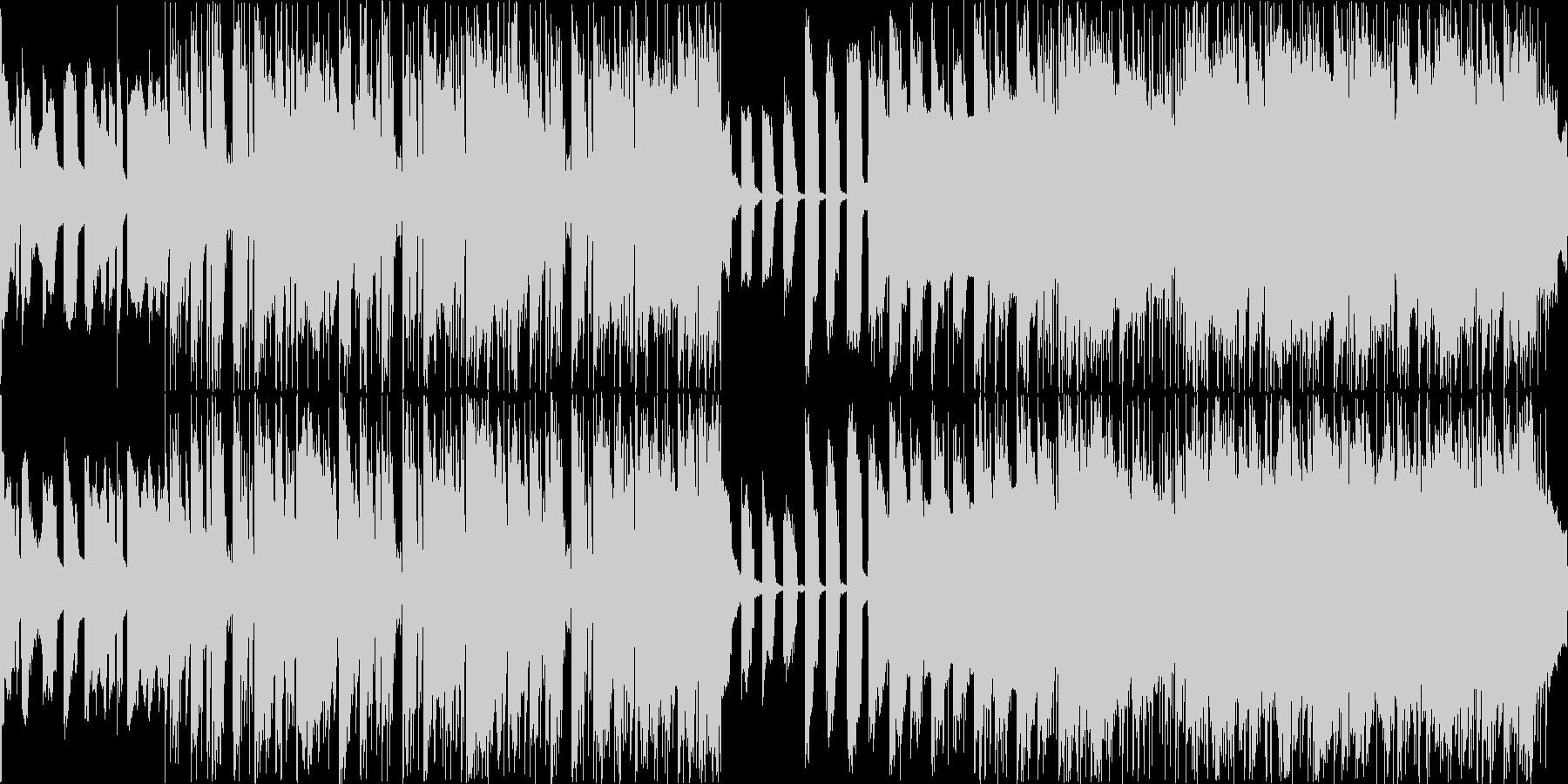 明るくポップなエレクトロBGMの未再生の波形