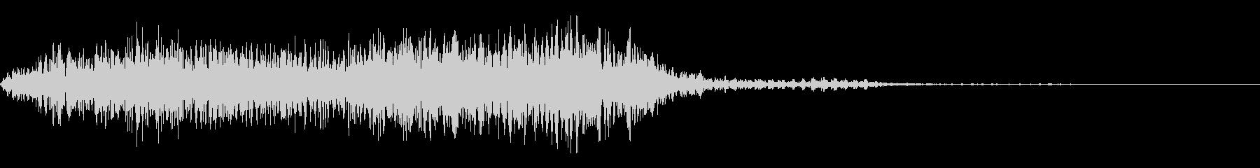 うめき声、化け物A02の未再生の波形