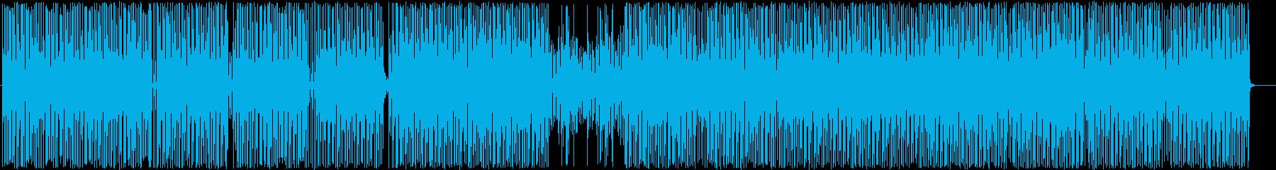 楽しいエレクトロダンスポップの再生済みの波形